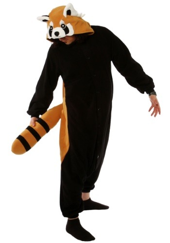 Click Here to buy Red Panda Adult Kigurumi from HalloweenCostumes, USA Funds & Shipping