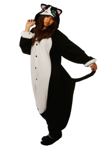 Click Here to buy Black Cat Kigurumi for Adults from HalloweenCostumes, USA Funds & Shipping