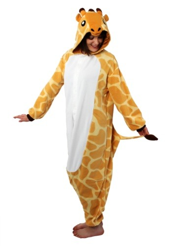 Click Here to buy Giraffe Kigurumi for Adults from HalloweenCostumes, USA Funds & Shipping