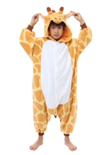 Click Here to buy Giraffe Kigurumi for Kids from HalloweenCostumes, USA Funds & Shipping