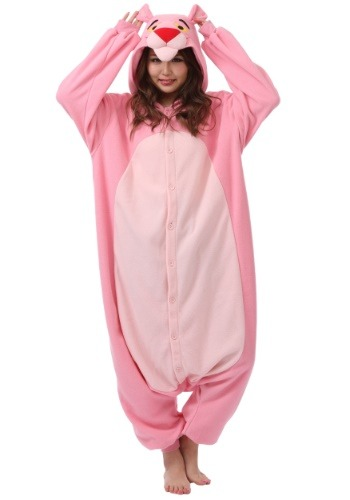 Click Here to buy Pink Panther Kigurumi for Adults from HalloweenCostumes, USA Funds & Shipping