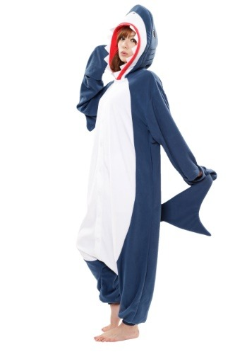 Click Here to buy Shark Kigurumi for Adults from HalloweenCostumes, USA Funds & Shipping