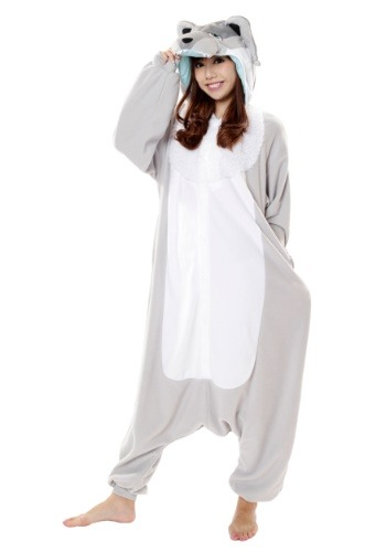Click Here to buy Wolf Kigurumi for Adults from HalloweenCostumes, USA Funds & Shipping