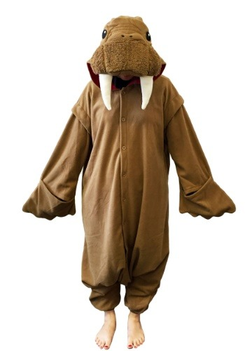 Click Here to buy Walrus Kigurumi for Adults from HalloweenCostumes, USA Funds & Shipping