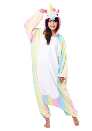 Click Here to buy Rainbow Unicorn Kigurumi for Adults from HalloweenCostumes, USA Funds & Shipping