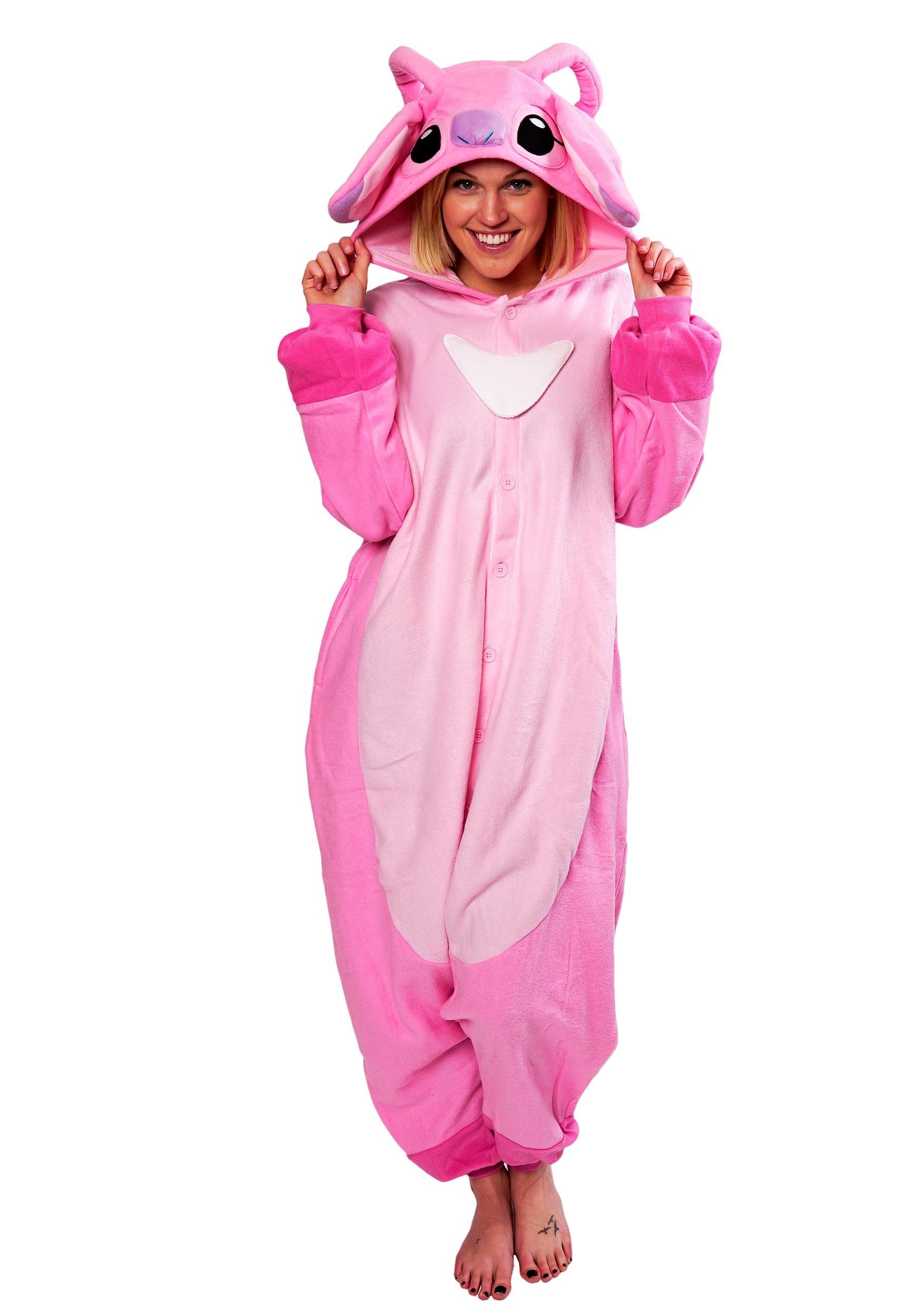 Lilo And Stitch Angel Kigurumi Costume For Adults