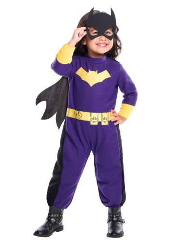 Click Here to buy Batgirl Romper for Girls from HalloweenCostumes, USA Funds & Shipping
