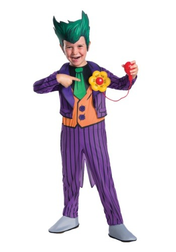 Click Here to buy Deluxe Toddler Joker Costume from HalloweenCostumes, CDN Funds