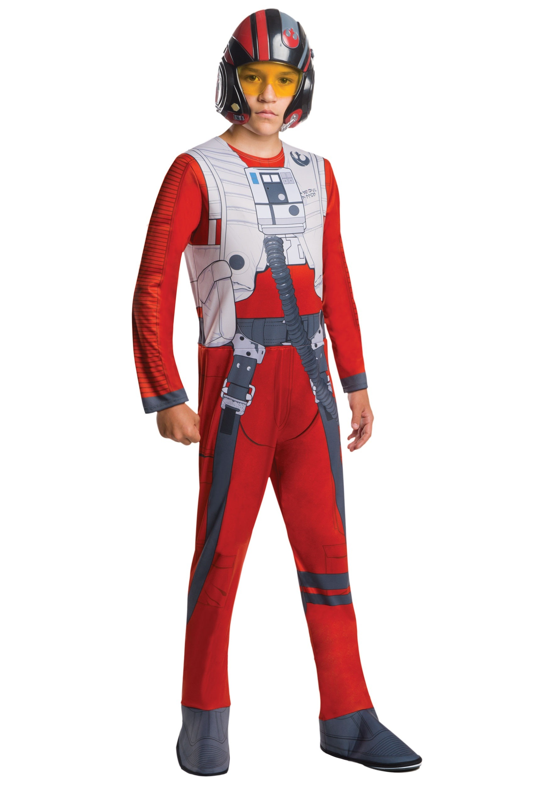 LICENSED POE X-WING FIGHTER EP7 STAR WARS CHILD BOYS DRESS UP HALLOWEEN COSTUME