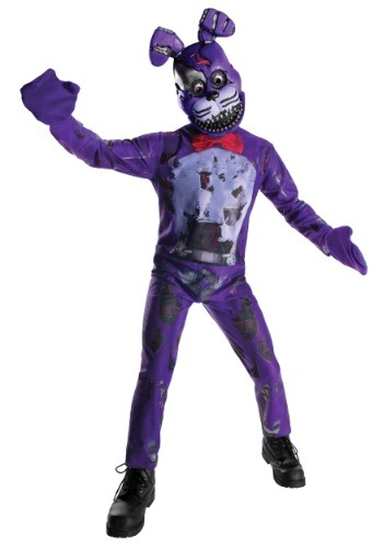 Five Nights At Freddy S Nightmare Bonnie Costume For Kids