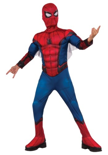 Click Here to buy Deluxe Spider-Man Boys Costume from HalloweenCostumes, USA Funds & Shipping