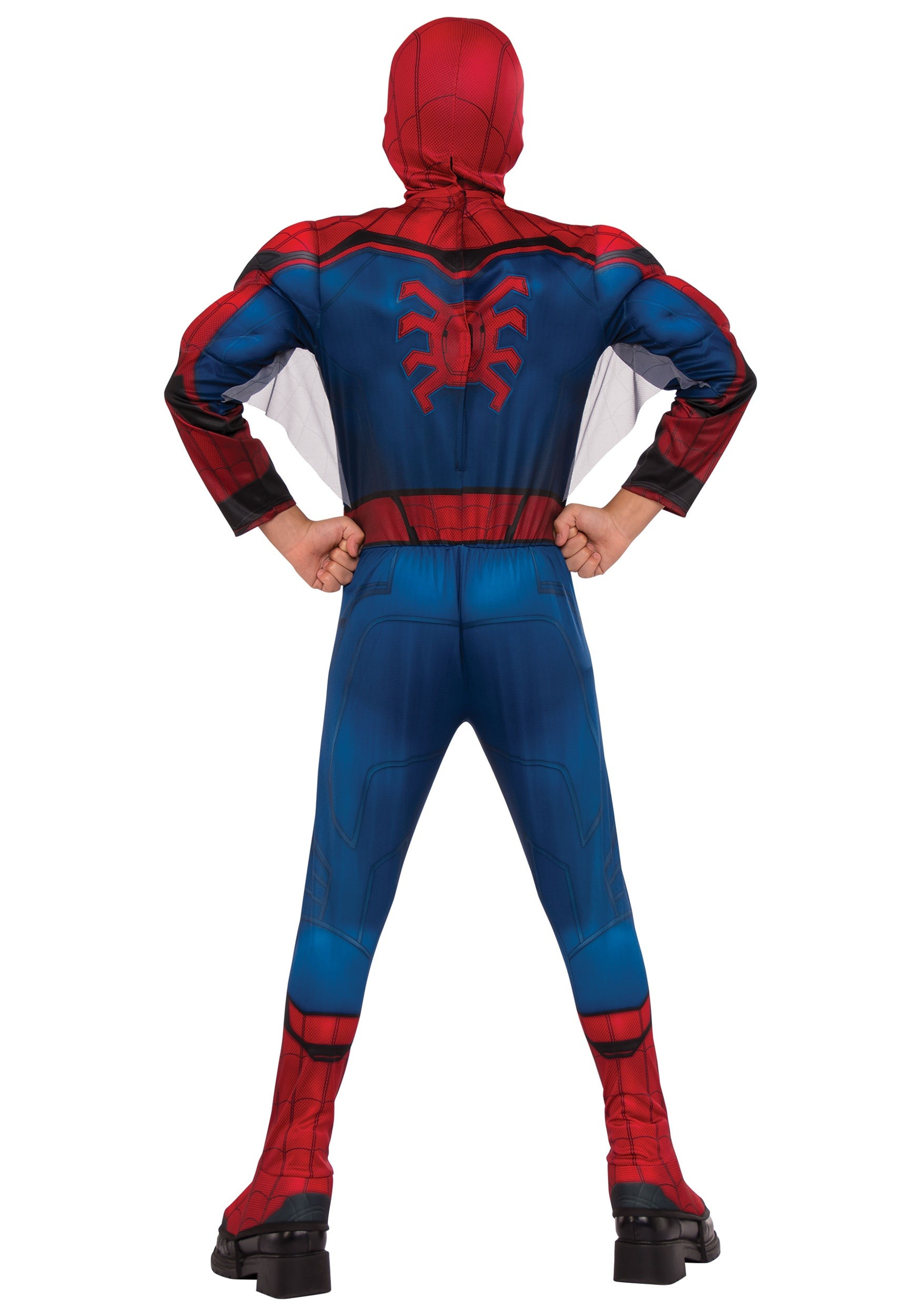 Spiderman Homecoming Spiderman Child Boy Red Costume Boot Tops