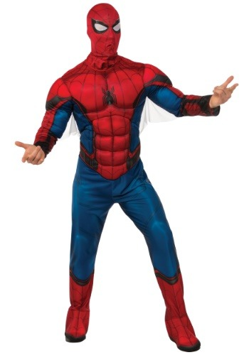 Click Here to buy Deluxe Spider-Man Mens Costume from HalloweenCostumes, USA Funds & Shipping