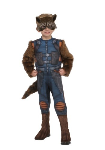 Click Here to buy Deluxe Toddler Rocket Raccoon Costume from Guardians of the Galaxy from HalloweenCostumes, USA Funds & Shipping
