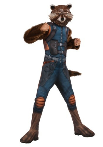 Click Here to buy Kids Deluxe Rocket Raccoon Costume from HalloweenCostumes, USA Funds & Shipping