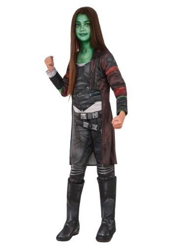 Click Here to buy Deluxe Gamora Girls Costume from HalloweenCostumes, USA Funds & Shipping