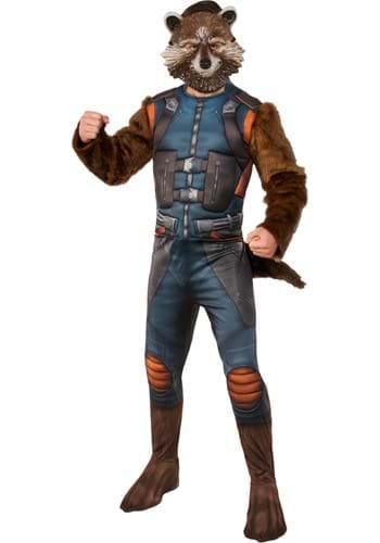 Click Here to buy Adult Deluxe Rocket Raccoon Costume from Guardians of the Galaxy from HalloweenCostumes, USA Funds & Shipping