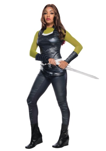 Click Here to buy Gamora Adult Costume from Guardians of the Galaxy from HalloweenCostumes, CDN Funds