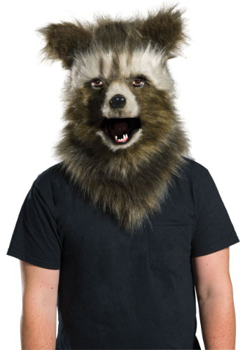 Click Here to buy Rocket Raccoon Movable Jaw Faux Fur Mask from HalloweenCostumes, USA Funds & Shipping