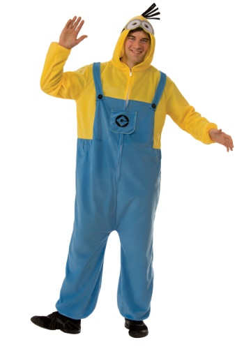 Click Here to buy Minion Jumpsuit Adult from HalloweenCostumes, CDN Funds