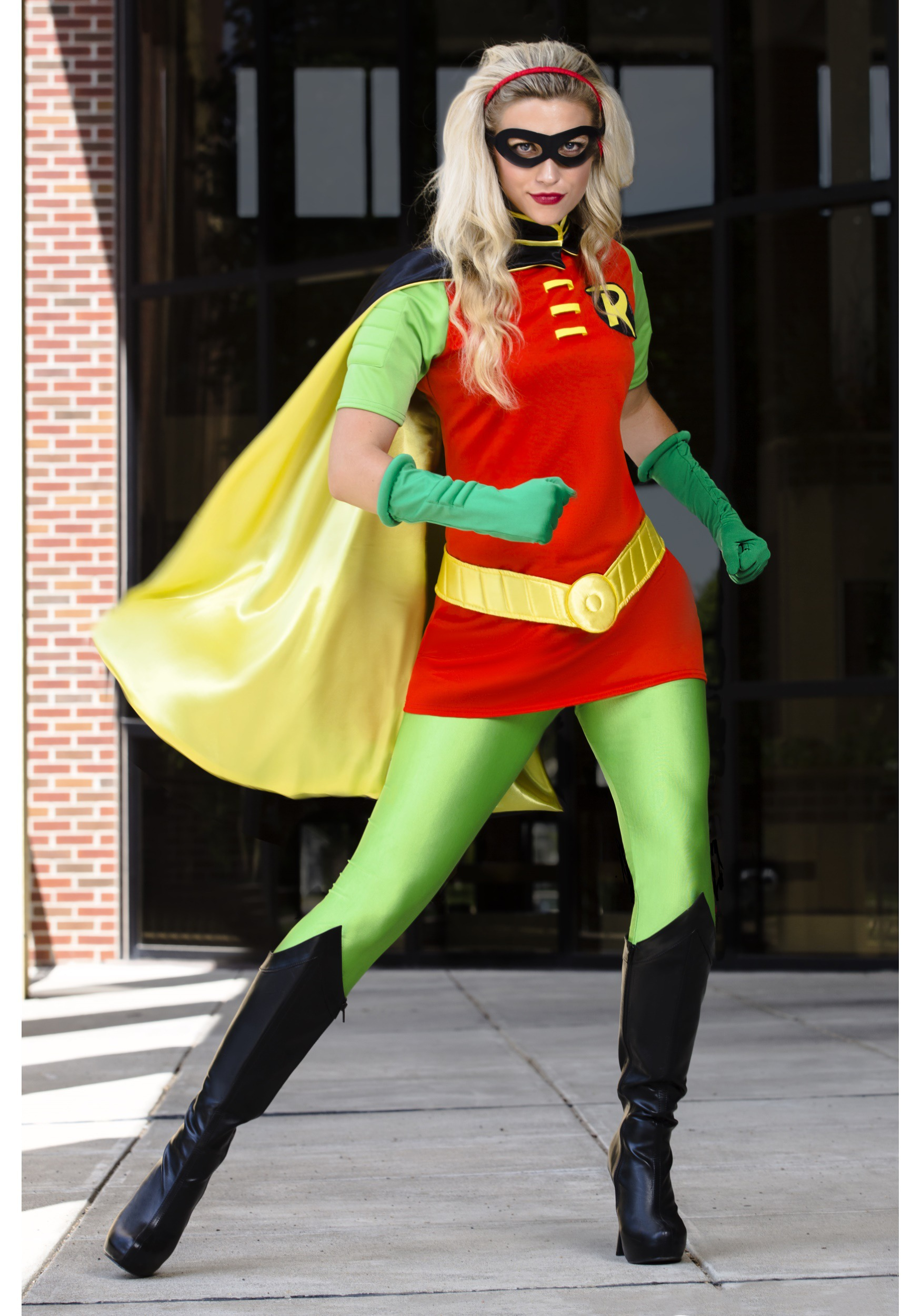 DC Womenu0027s Robin Costume  sc 1 st  Halloween Costumes & Superhero Costumes for Women