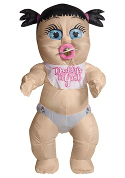 Inflatable Baby Girl Adult Costume upd
