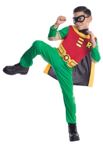 Click Here to buy Teen Titans Robin Boys Costume from HalloweenCostumes, CDN Funds
