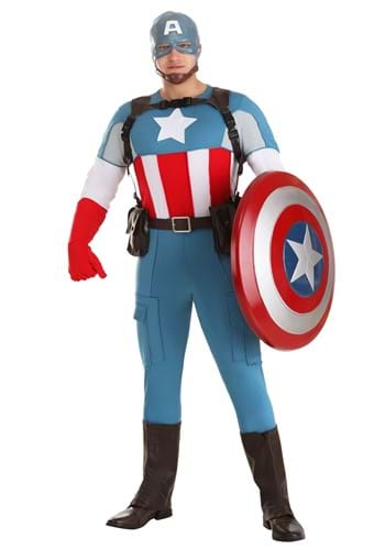 Click Here to buy Captain America Grand Heritage Mens Costume from HalloweenCostumes, USA Funds & Shipping