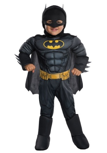 Click Here to buy Batman Deluxe Costume for Toddlers from HalloweenCostumes, CDN Funds