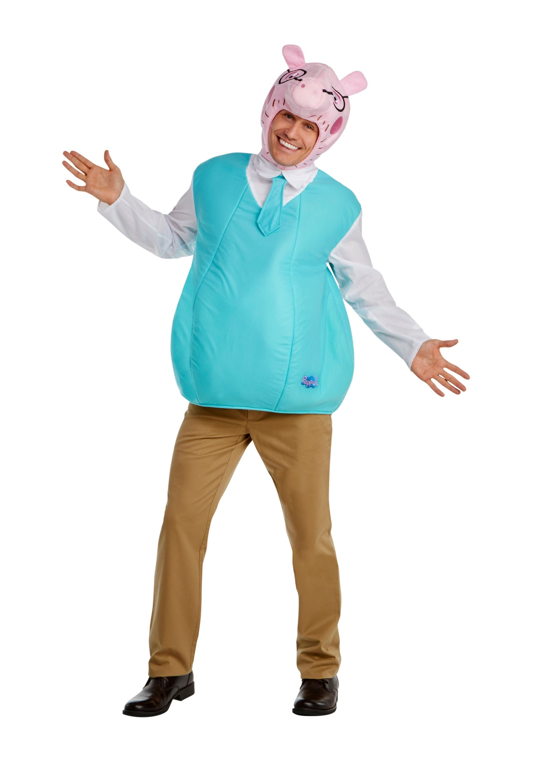 Mens daddy pig costume from peppa pig mens daddy pig costume solutioingenieria Images