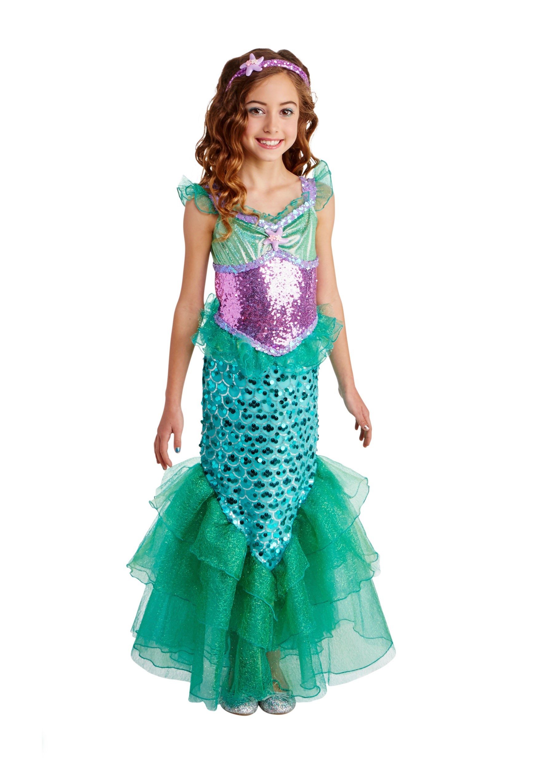 Blue Seas Mermaid Deluxe Girls Costume  sc 1 st  Halloween Costumes & Mermaid Costumes - Adult Child Little Mermaid Costumes