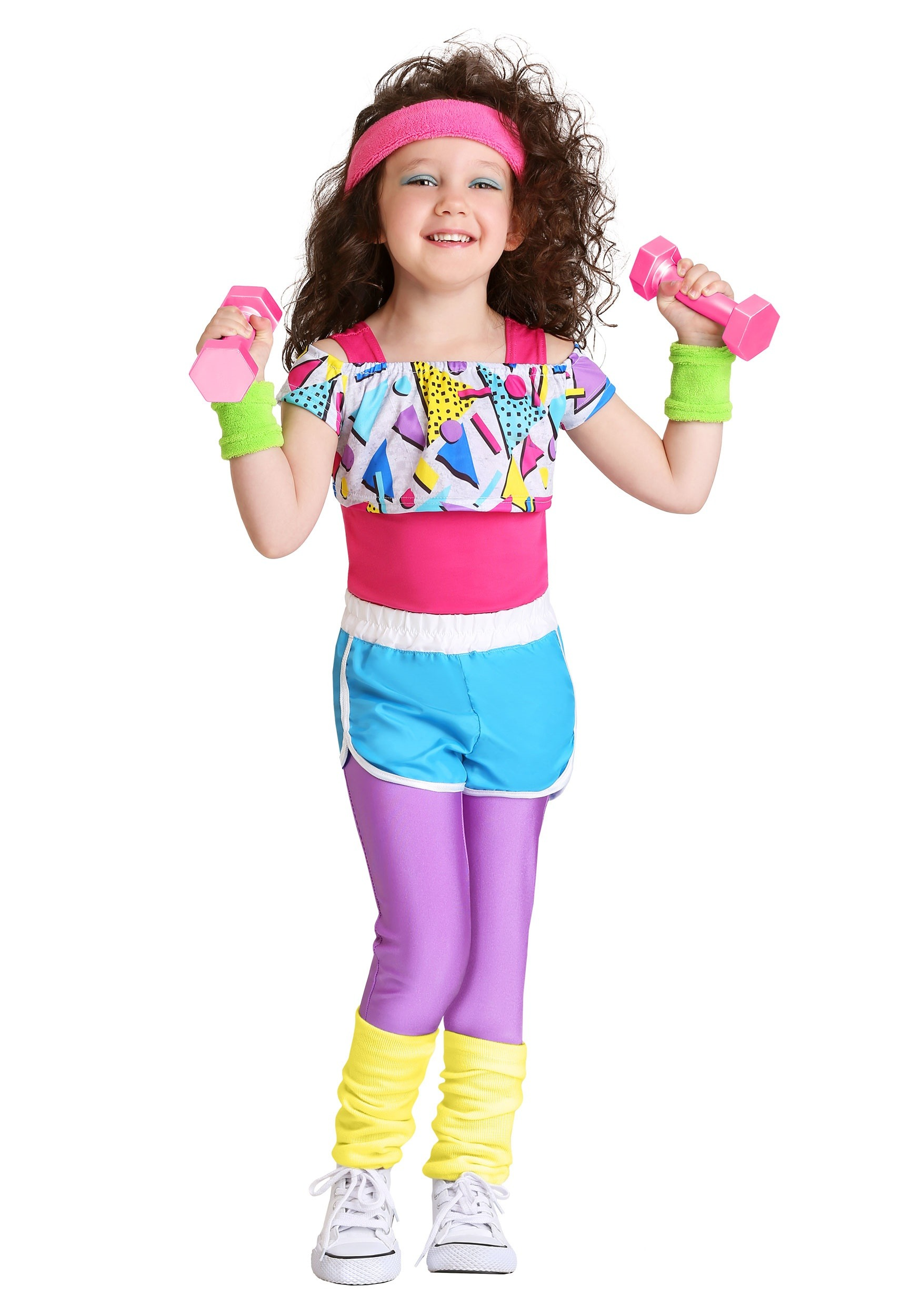 Work It Out 80s Costume For Toddler Girls