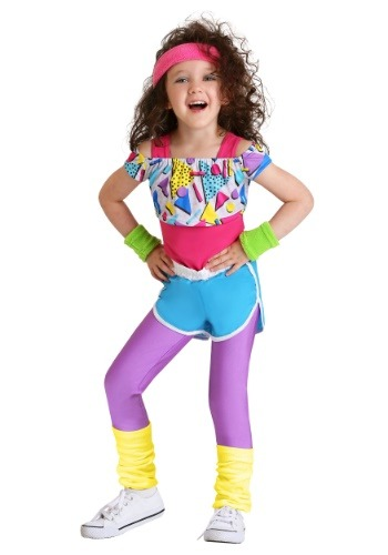 Click Here to buy Work It Out 80s Costume for Toddler Girls from HalloweenCostumes, CDN Funds