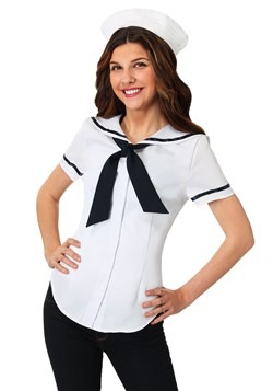 Womens Sweet Sailor Plus Size Costume Set cc