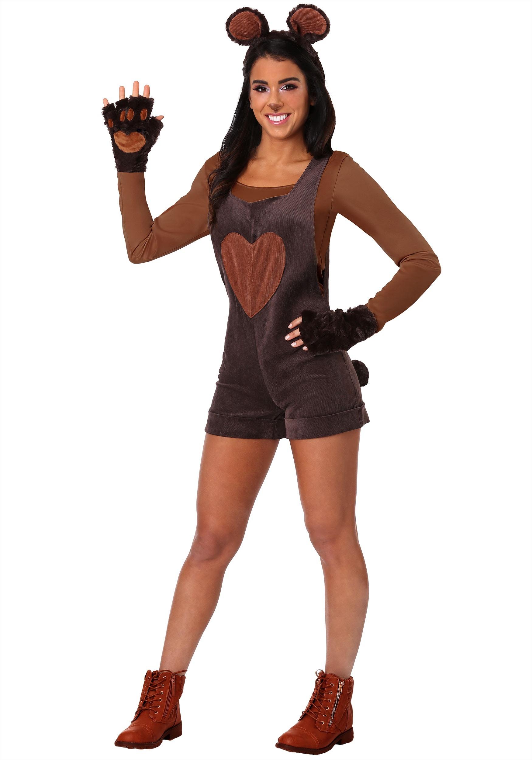 Womens Cuddly Bear Costume  sc 1 st  Halloween Costumes & Cuddly Bear Costume for Women