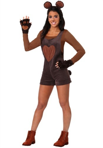 Womens Cuddly Bear Costume