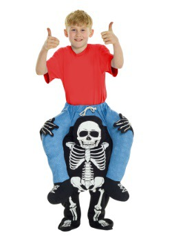 Skeleton Piggyback Kids Costume
