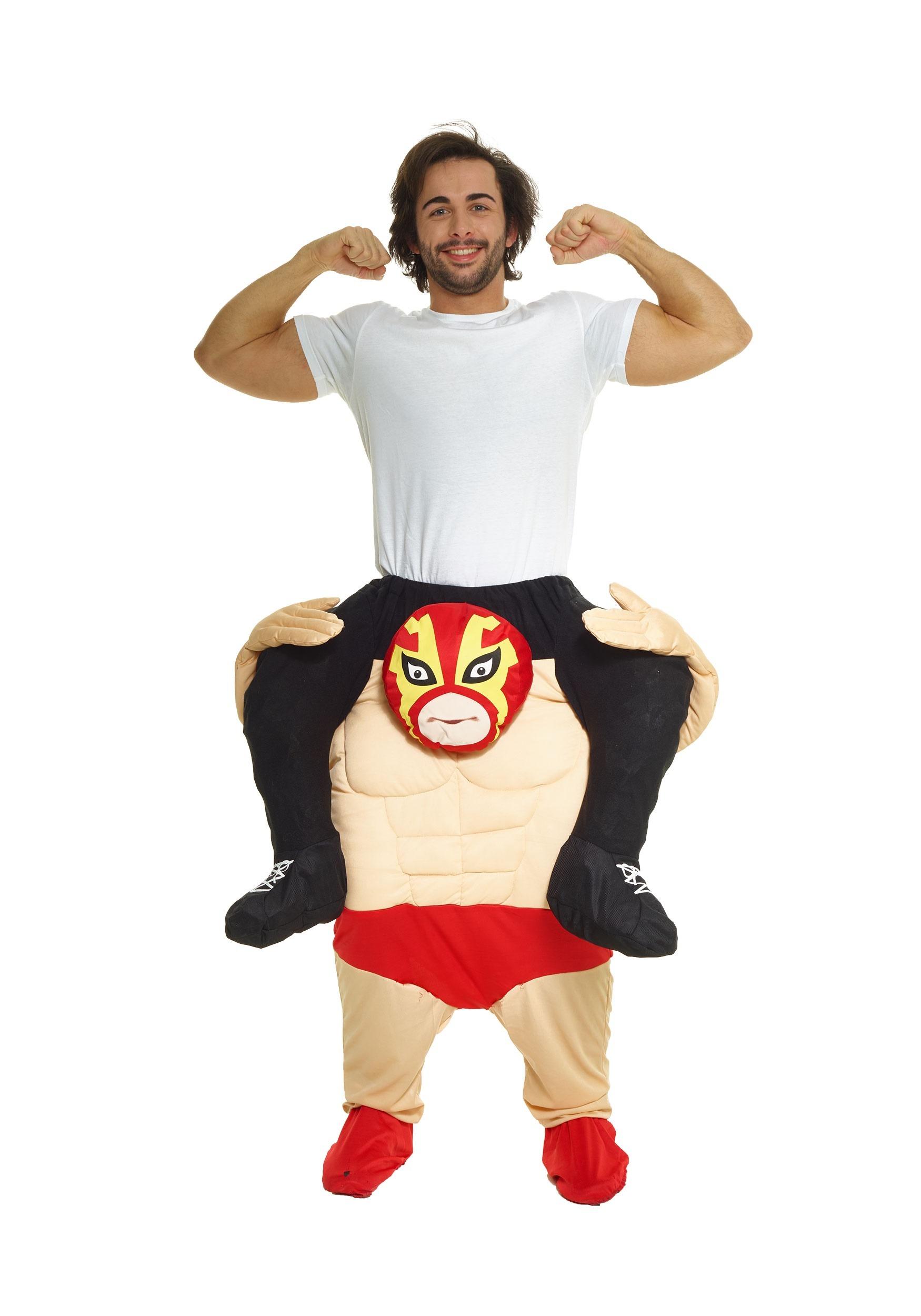 3bd3aa9bbbb5 Wrestler Piggyback Costume for Men