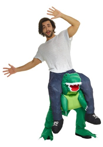Click Here to buy Adult T-Rex Piggyback Costume from HalloweenCostumes, USA Funds & Shipping