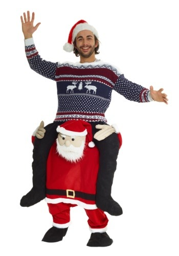 Click Here to buy Santa Piggyback Costume for Adults from HalloweenCostumes, USA Funds & Shipping