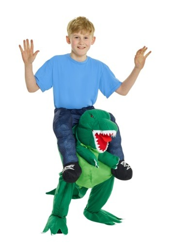 Click Here to buy T-Rex Piggyback Kids Costume from HalloweenCostumes, USA Funds & Shipping