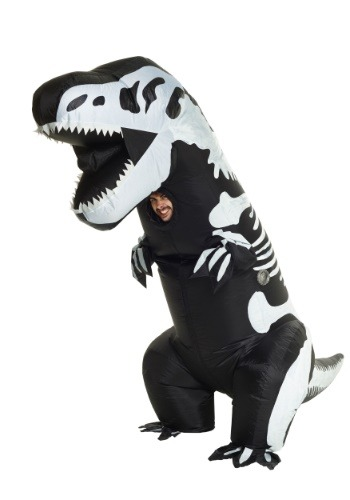 Inflatable Skeleton T-Rex Costume for Adult