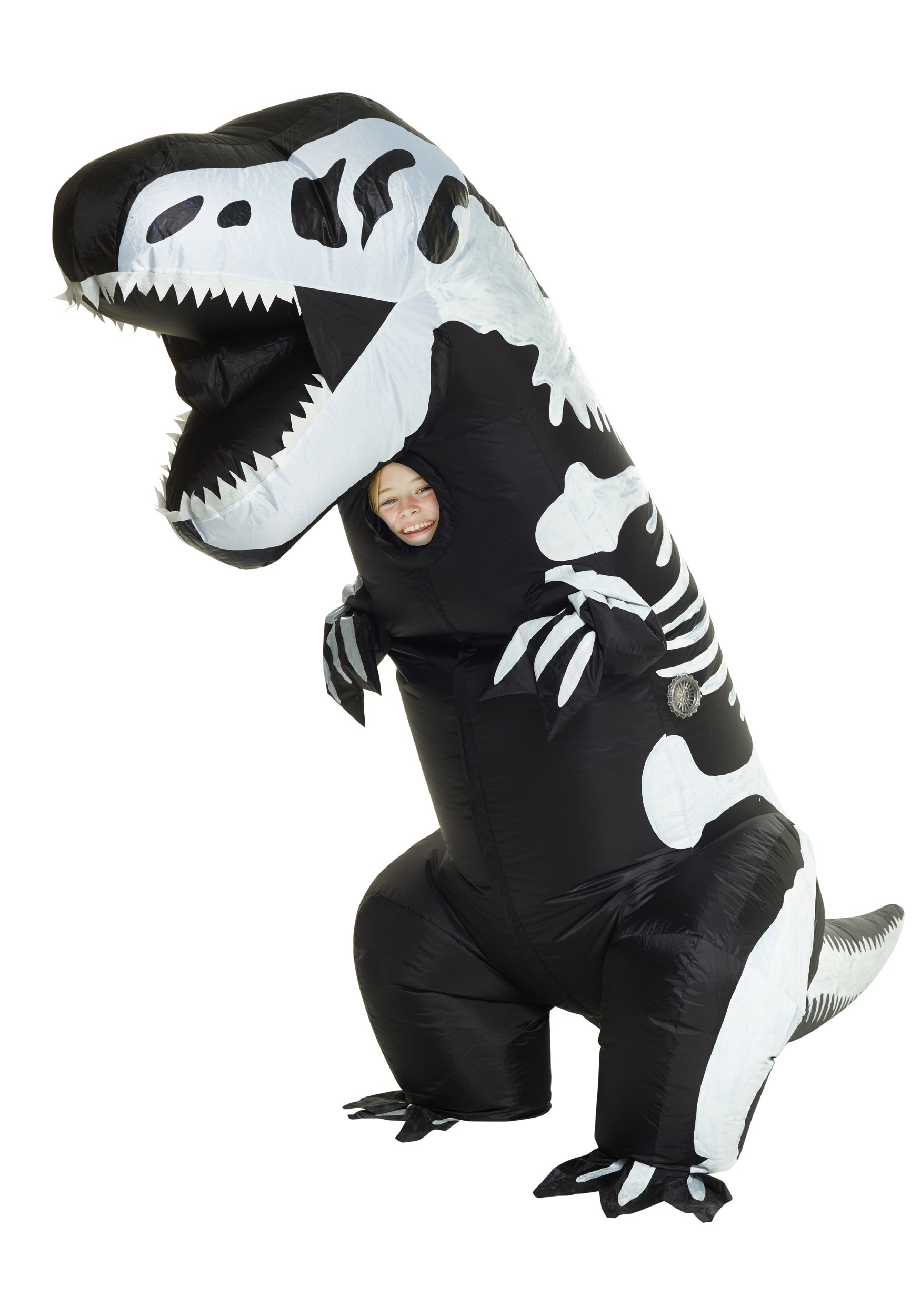 child inflatable skeleton t rex costume