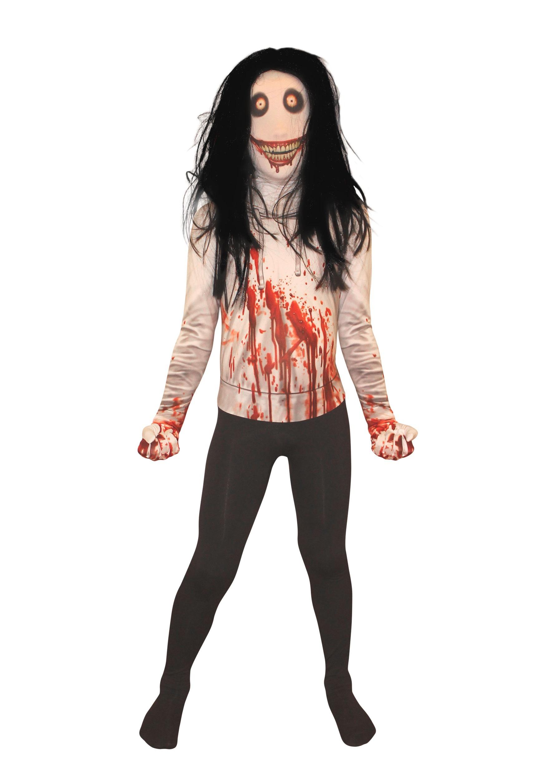 creepy killer morphsuit costume for kids