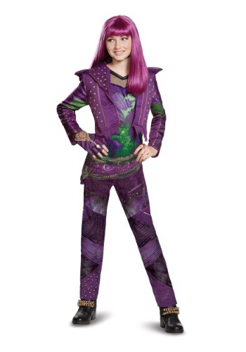 Click Here to buy Girls Mal Deluxe Costume from Descendants 2 from HalloweenCostumes, CDN Funds