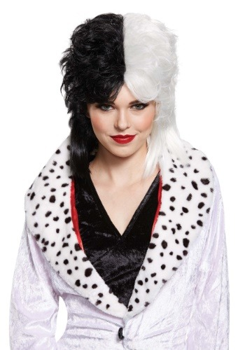 Click Here to buy Cruella De Vil Deluxe Wig for Women from HalloweenCostumes, CDN Funds