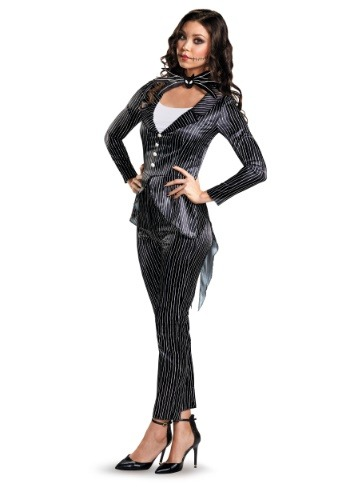 Click Here to buy Jack Skellington Womens Deluxe Costume from HalloweenCostumes, CDN Funds