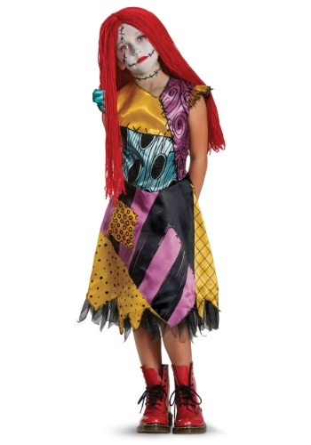 Click Here to buy Sally Deluxe Girls Costume from HalloweenCostumes, CDN Funds