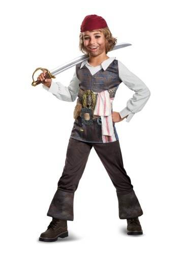 Click Here to buy Captain Jack Sparrow Classic Boys Costume from HalloweenCostumes, USA Funds & Shipping