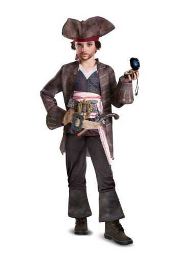 Click Here to buy Captain Jack Sparrow Deluxe Boys Costume from HalloweenCostumes, USA Funds & Shipping